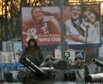 Prieš parengiamąjį paradinį važiavimą. Maskva. Pergalės diena - 65 metai, jubiliejus. (Technikos nuotraukos)